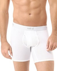 Naked Essential Stretch Cotton Boxer Briefs Pack Of 2 White