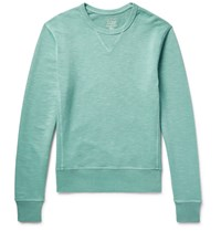 J.Crew Garment Dyed Loopback Cotton Jersey Sweatshirt Green