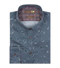 Ted Baker Signal Floral Print Shirt Male Blue