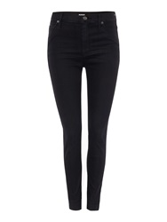 Hudson Jeans Lynne High Rise Straight Leg Jean In Shrine Black