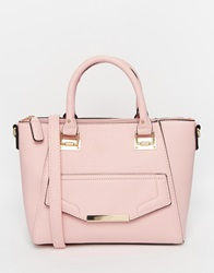 New Look Winged Tote Bag Pink