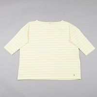 Armor Lux Oversized Sailor Shirt Yellow White