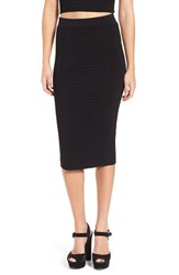 Leith Women's Ottoman Knit Midi Skirt