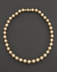 Bloomingdale's Cultured Golden South Sea Pearl Necklace In 14K Yellow Gold 17