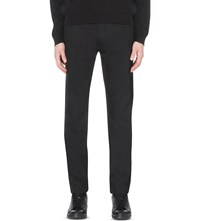 Raf Simons Slim Fit Tapered Stretch Denim Jeans Black