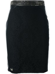 Philipp Plein 'Come On' Pencil Skirt Black
