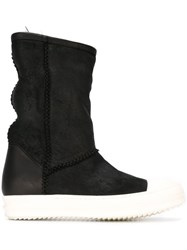 Rick Owens Round Toe Boots Black