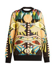 Givenchy Geometric Print Round Neck Cotton Sweatshirt Multi