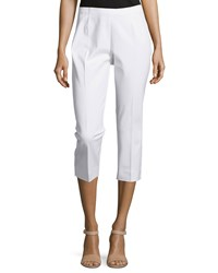 Neiman Marcus Cropped Bi Stretch Pants White