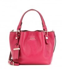 Tod's Flower Micro Leather Bag Pink