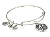 Alex And Ani Initial R Charm Bangle Rafaelian Silver Finish Bracelet