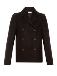 Balenciaga Double Breasted Wool Blend Pea Coat