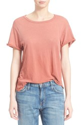 Women's Current Elliott 'The Rolled Sleeve' Crewneck Tee Withered Rose