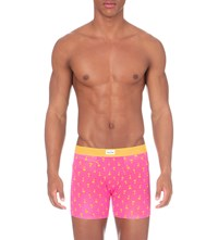 Happy Socks Palm Beach Boxer Briefs Pink And Yellow