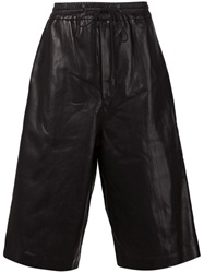 Juun.J Leather Boxer Shorts Black