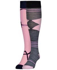 Under Armour Women's 2 Pk. Style Knee High Socks Pink Assorted