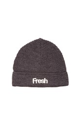 Scotch And Soda Beanie With Chunky Embroidery Charcoal