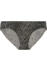 Calvin Klein Underwear Perfectly Fit Snake Print Stretch Satin Briefs