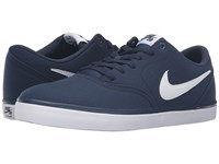 Nike Check Solar Canvas Midnight Navy White Men's Skate Shoes
