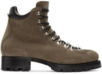 Dsquared2 Brown Suede Hiking Boots