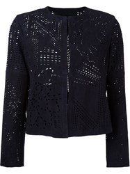Drome Laser Cut Out Jacket Blue