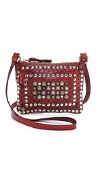 Campomaggi Studded Cross Body Pouch Brown