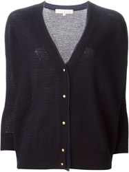 Vanessa Bruno Frayed Edge Cardigan Blue
