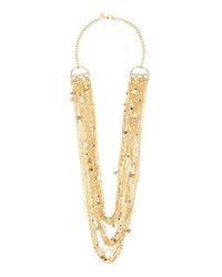Lydell Nyc Golden Multi Strand Draped Chain Necklace