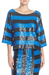 Women's Tracy Reese Stripe Sequin Top