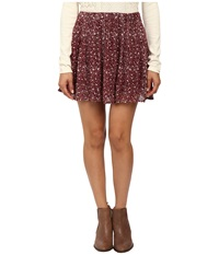 Lucky Brand Printed Mini Skirt Red Multi Women's Skirt