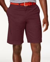 Tommy Hilfiger Men's Classic Fit Chino Shorts Tawny Port