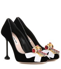 Miu Miu Velvet Pumps Black