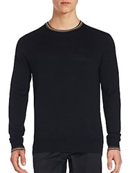 Ben Sherman Cotton Crewneck Sweater Black