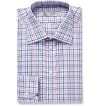 Turnbull And Asser Slim Fit Checked Cotton Shirt Pink