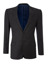 Linea Sharkskin Suit Jacket Charcoal
