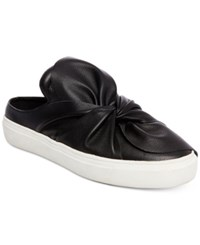 Steve Madden Steven By Women's Cal Twisted Knot Slip On Platform Sneakers Women's Shoes Black Leather