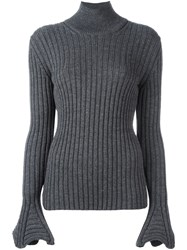 Lanvin Ribbed Jumper Grey