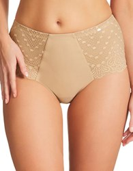 Fine Lines High Pull On Briefs Nude