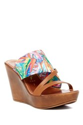 Italian Shoemakers Robin Platform Wedge Sandal Multi