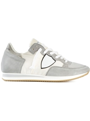 Philippe Model Patch Panelled Sneakers Grey