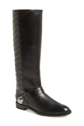 Stuart Weitzman Raceway Quilted Shaft Leather Riding Boot