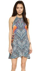 Mara Hoffman Mini Swing Dress Peacocks Green