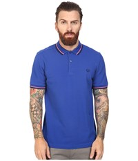 Fred Perry Slim Fit Twin Tipped Polo Regal Strawberry Navy Men's Short Sleeve Knit Blue