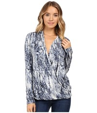 Tart Sarah Top Neutral Croco Reflections Women's Clothing Blue