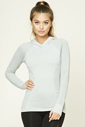 Forever 21 Active Seamless Hoodie Top Heather Grey