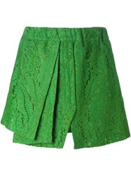 N 21 No21 Front Pleat Lace Shorts Green