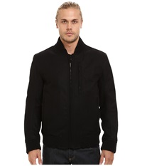 Marc New York Rikers Pressed Wool Bomber Black Men's Coat