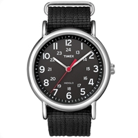 Timex Weekender Slip Thru Watch All Black