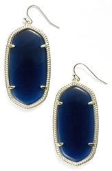 Kendra Scott Women's 'Danielle Large' Oval Statement Earrings Navy Cats Eye Gold