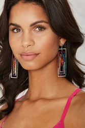 Colors Of The Wind Rectangle Earrings